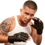 Kampfstellung im Thaiboxen